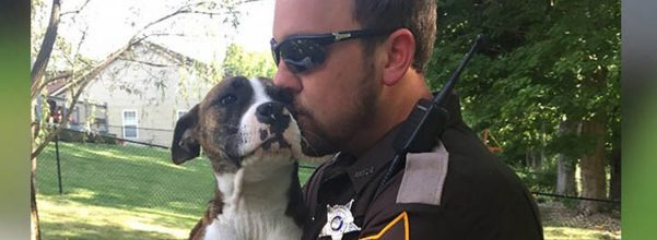 police officer adopts abandoned dog