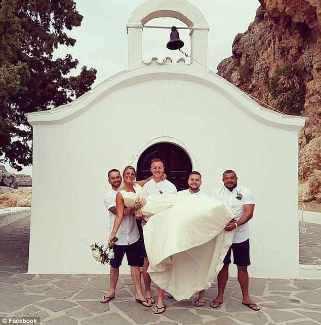 post-wedding picture caused devastation