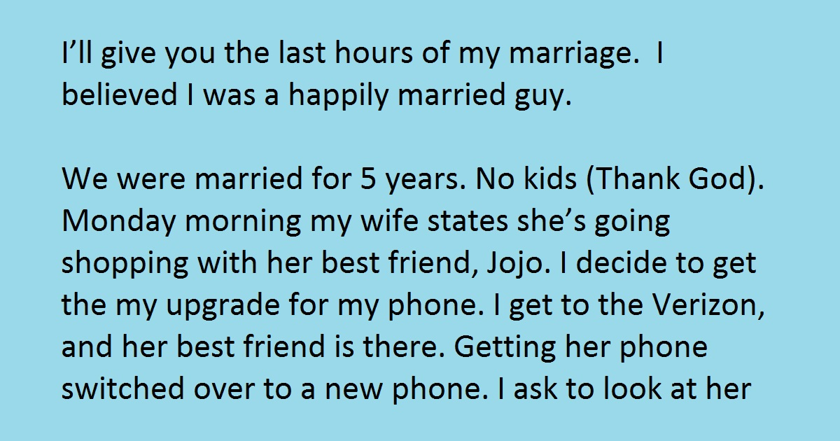 husband was shocked when he saw his wife u2019s message on her