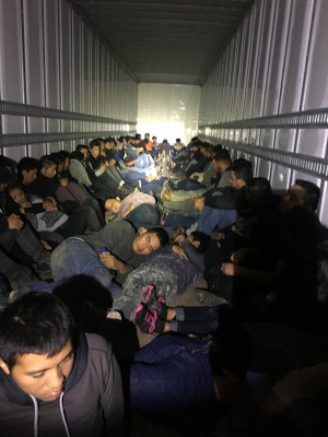 76 undocumented immigrants in truck