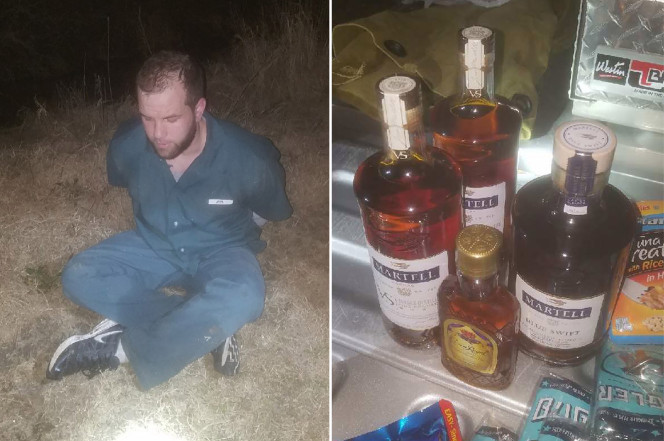 escaped inmate smuggles in food booze