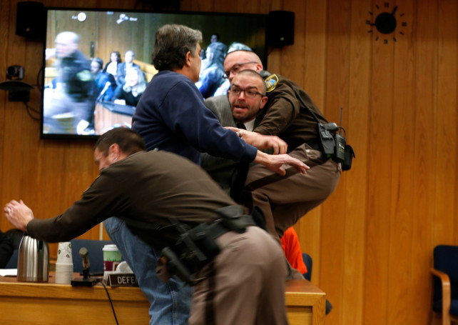 father attacks larry nassar in court
