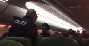 man passing gas on flight
