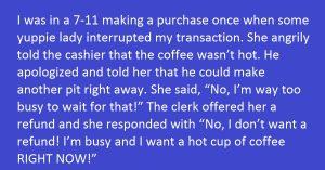 rude customer