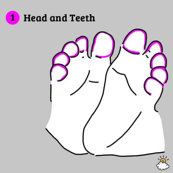 baby foot reflexology
