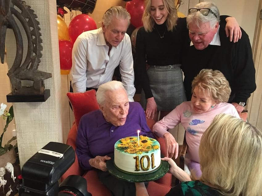 kirk douglas turns 101 family-photos