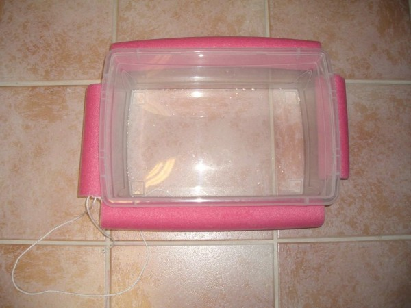 pool noodle plastic tub floating cooler