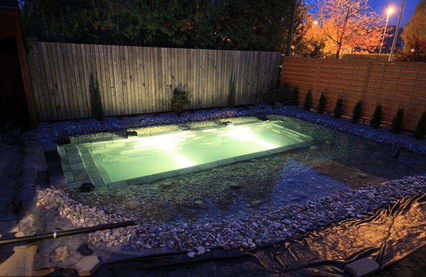 backyard swimming pond
