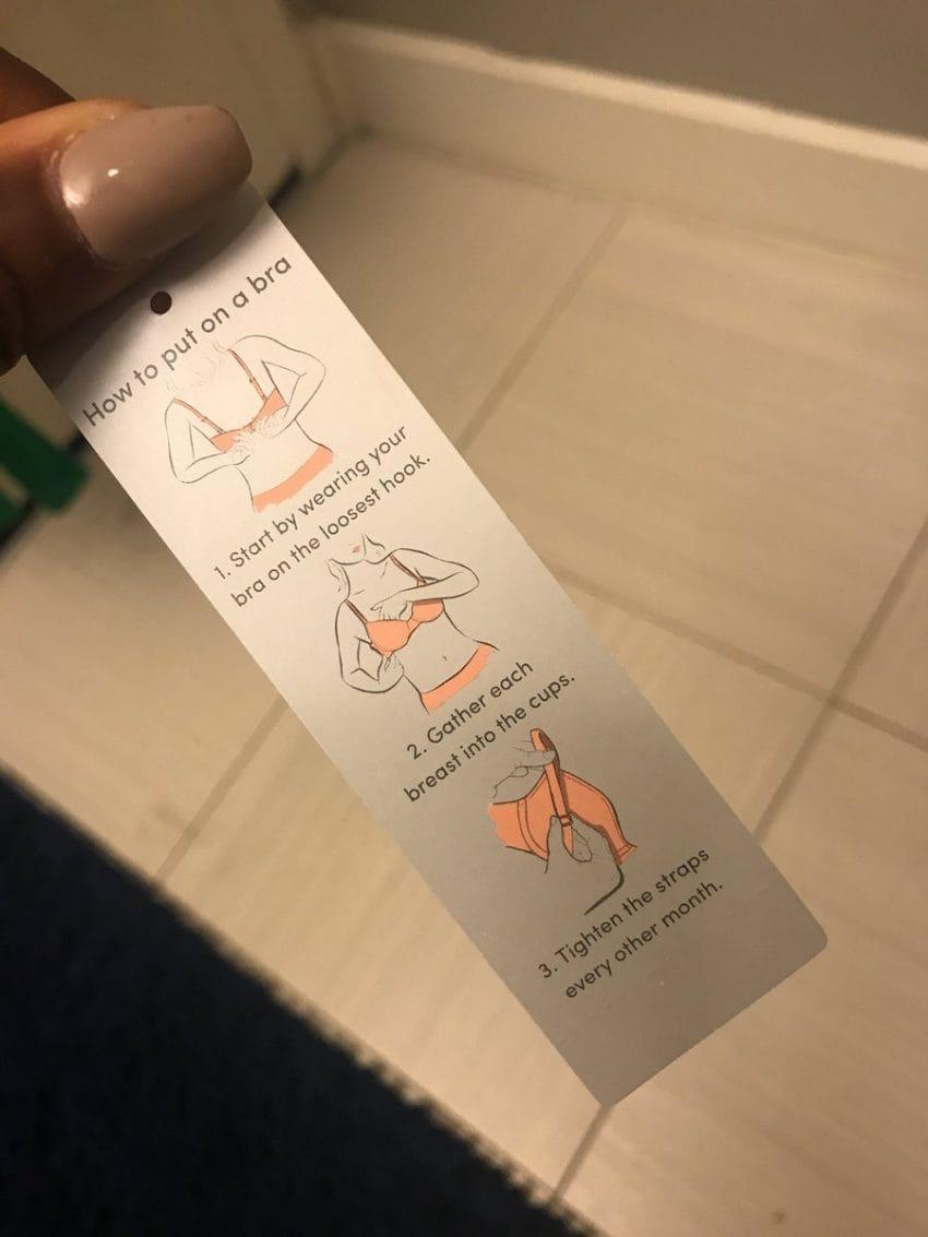 bra tag instructions