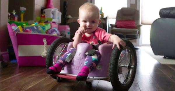 dad builds wheelchair