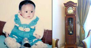 couple adopts baby clock