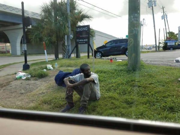 homeless man victor