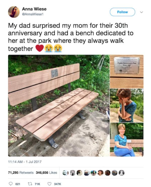 husband bench anniversary gift