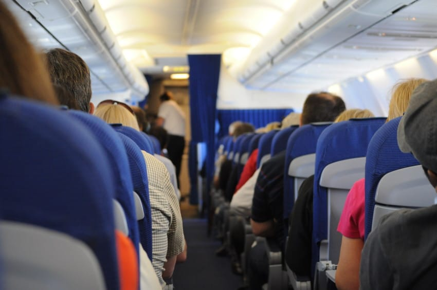 uninformed woman plane