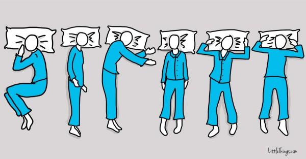 sleep position secret personality