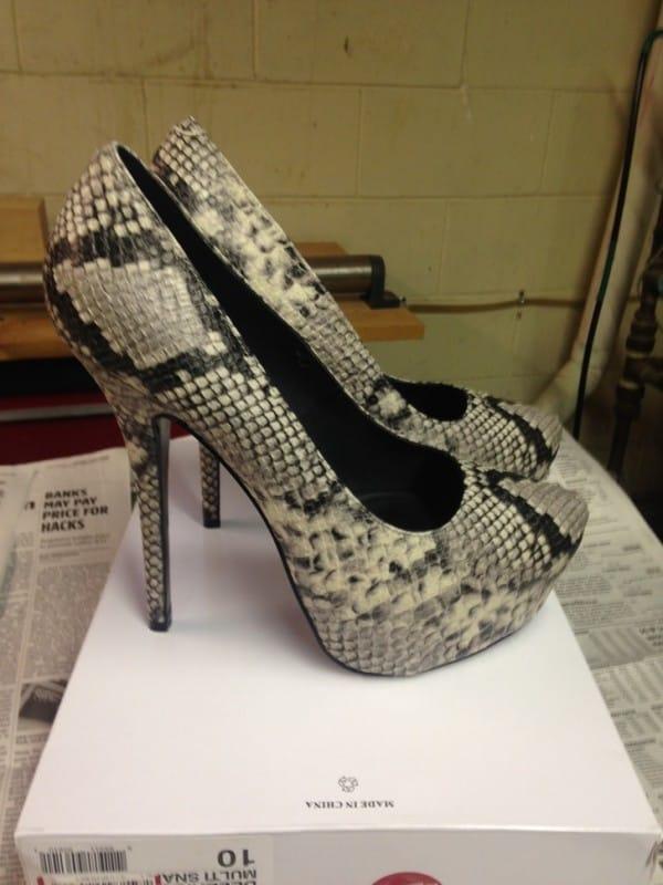 designer heels forty dollars