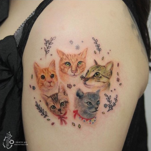 silo watercolor tattoos