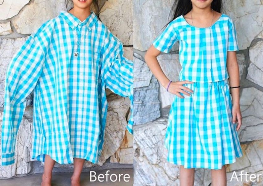 thrift store clothes transformation