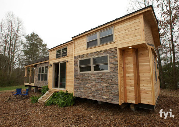 tiny house fyi 400 cabin rustic wheels