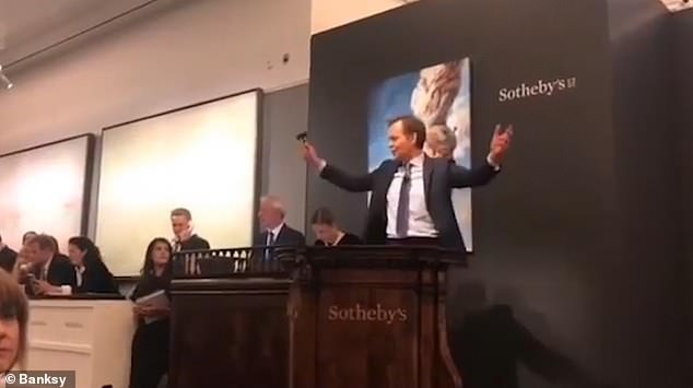 banksy painting auction