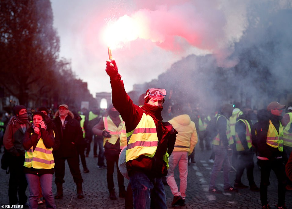 Paris fuel tax protest