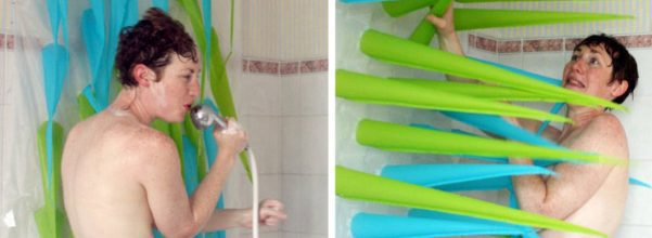 inflatable shower curtain